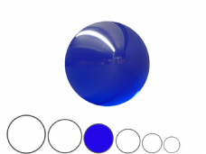 Jac Products Ocean Blue Translucent 80mm Acrylic Contact Ball